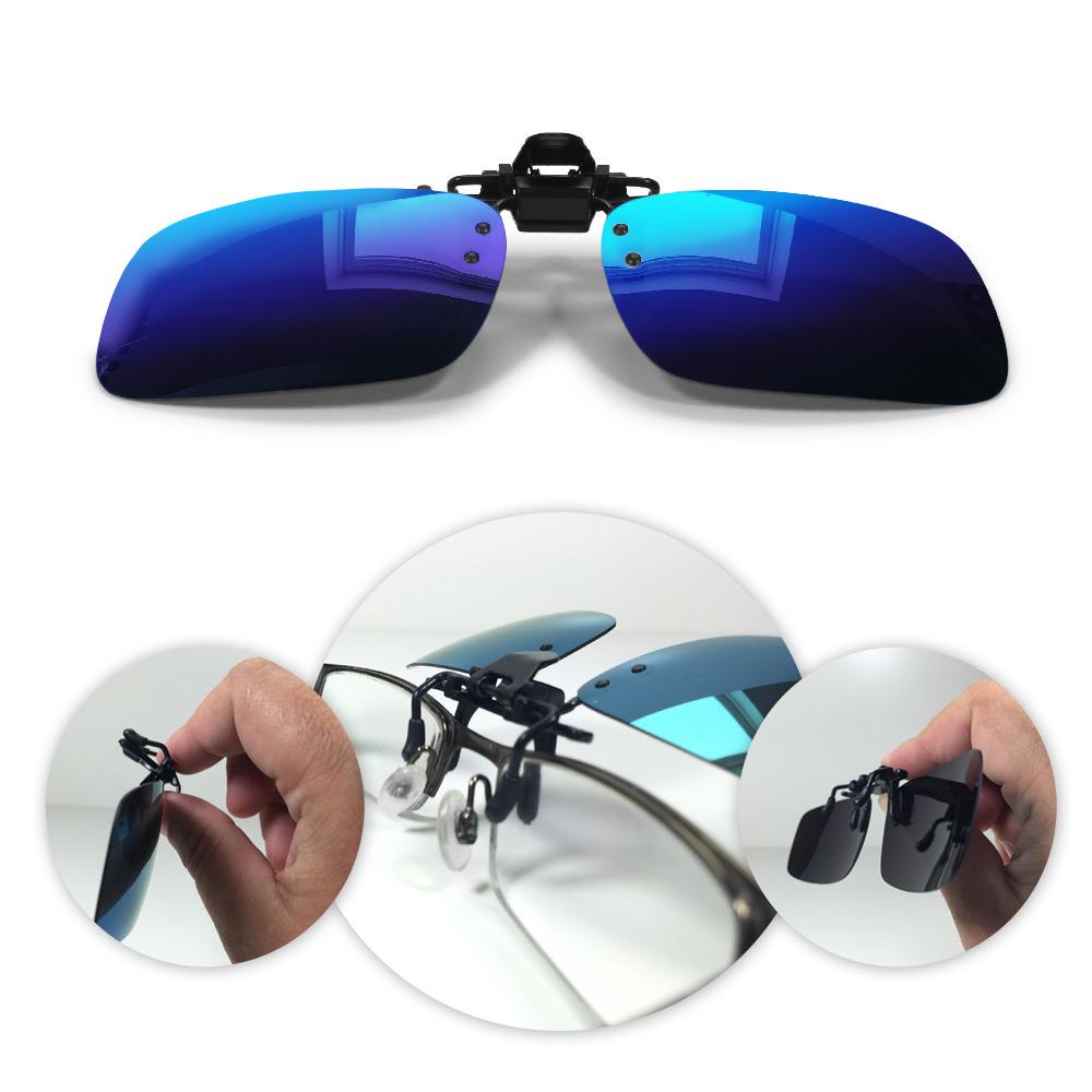 schnell verkaufend Für Original auswählen groß auswahl Aufsteck-Brille Clip-On-Sonnenbrillen verspiegelt dunkelblau Flip-Up  Polarized | JETZT für Haus und Garten 24/7 online kaufen