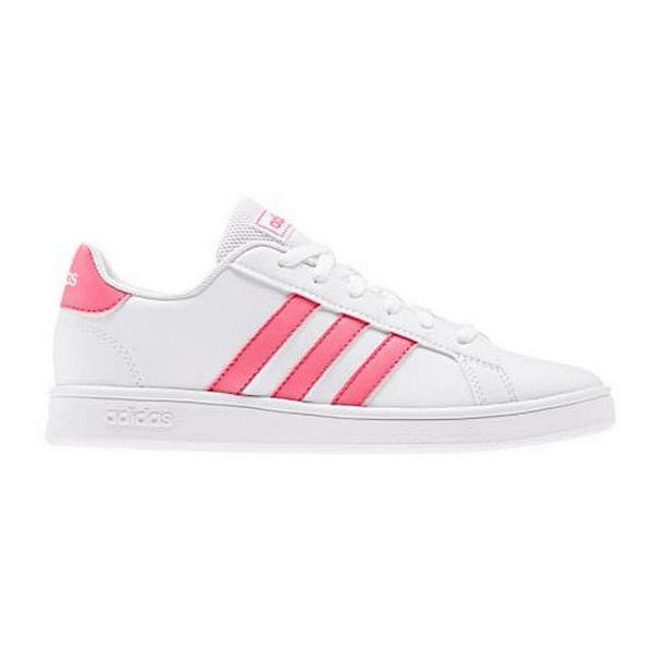 Mädchen Sneaker Turnschuhe Adidas Grand Court K Weiß Rosa | JETZT für Haus und Garten 247 online kaufen