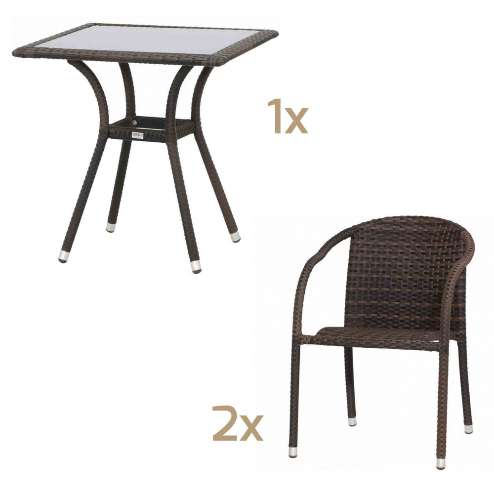 Siena Garden Wien Bistroset Balkonset Tisch 70x70 Cm 2 Stuhle