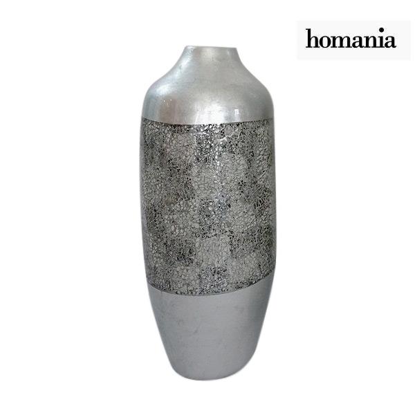 Vase Bambus Silberfarben 24 X 24 X 59 Cm By Homania Jetzt Fur