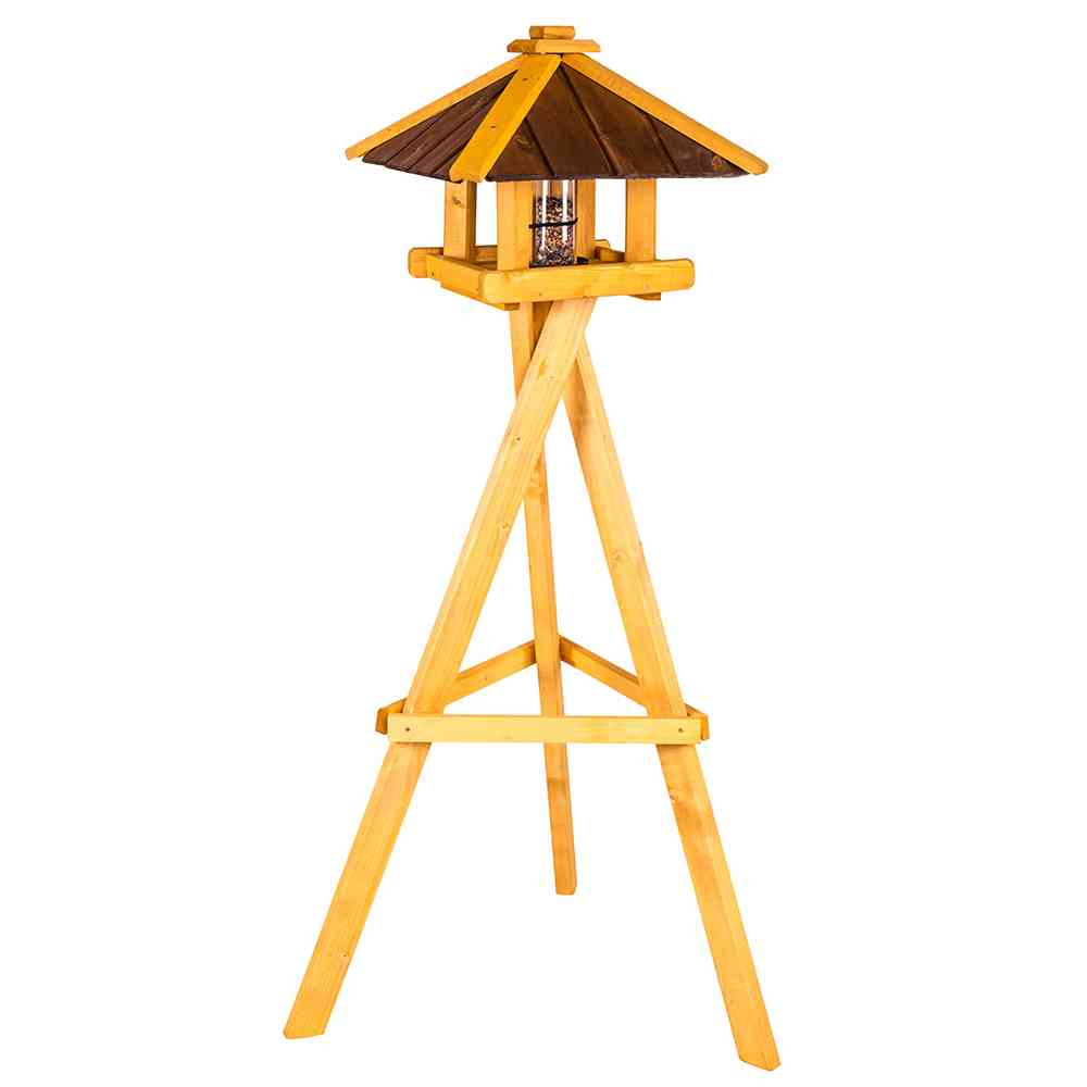 h g vogel vogelfutterhaus ben mit st nder vogelhaus. Black Bedroom Furniture Sets. Home Design Ideas